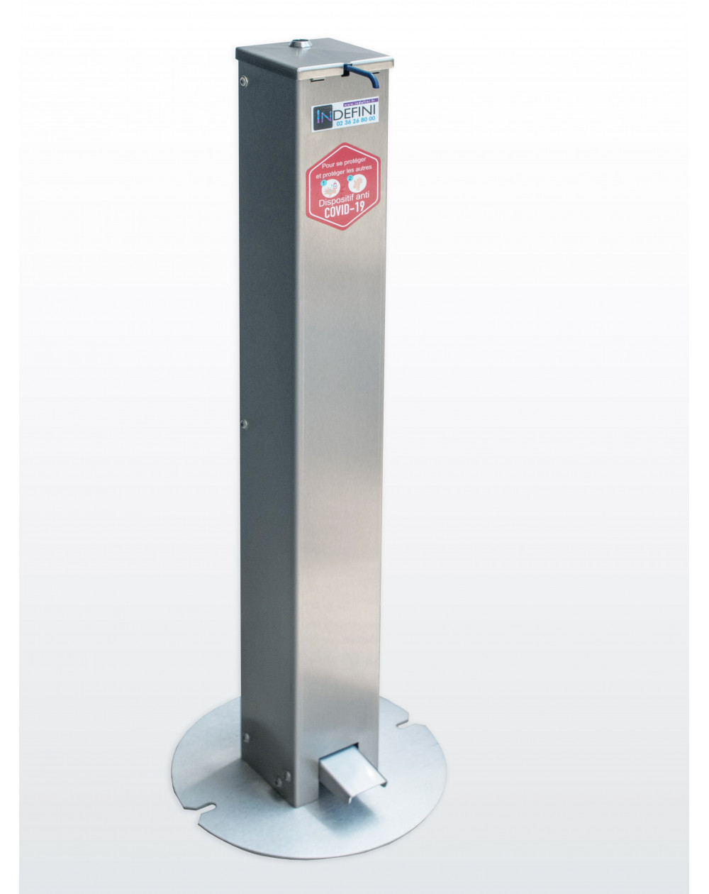 Distributeur de gel hydroalcoolique sans contact - Borne Hydro'gel - Covid 19