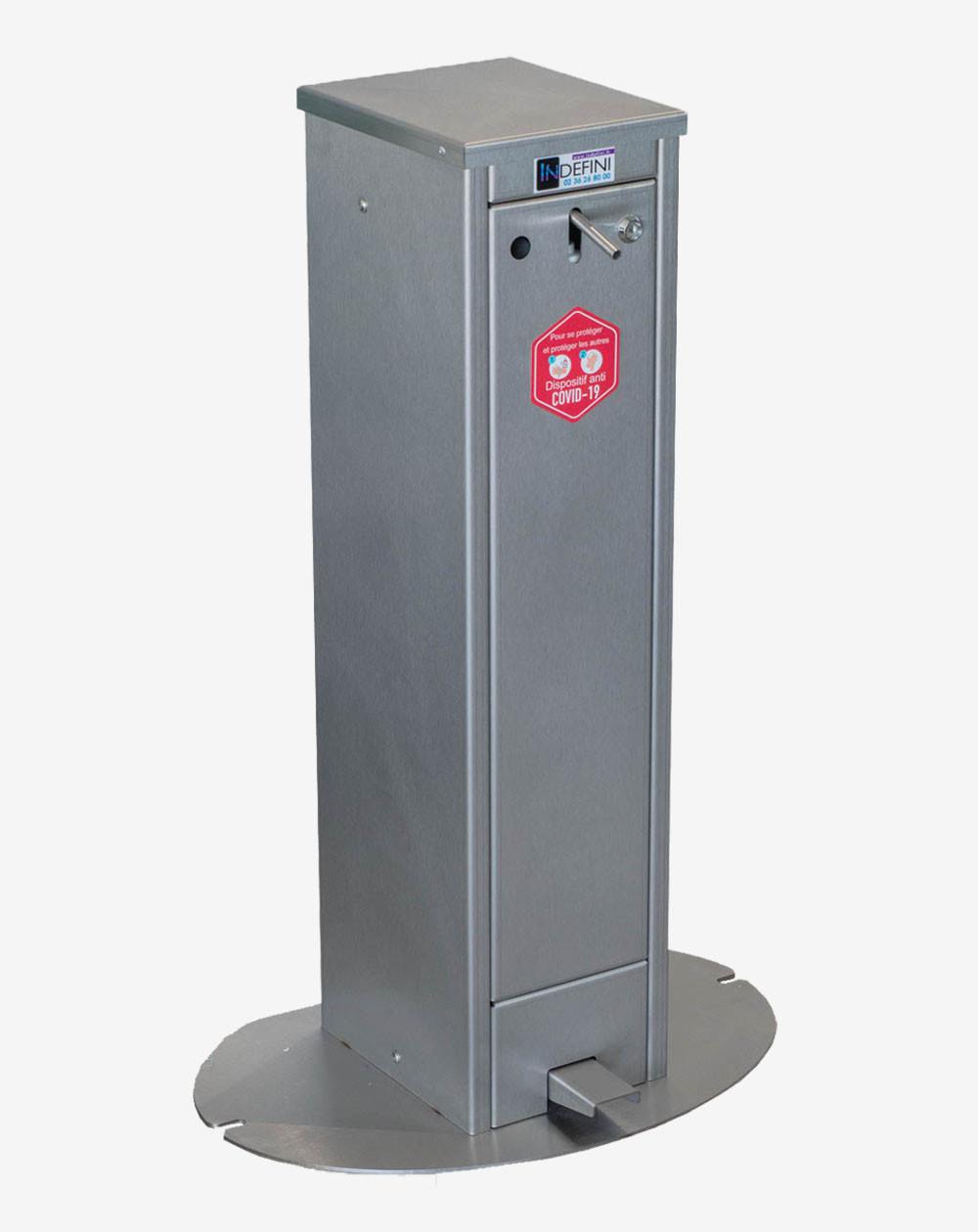 299 € HT -  Distributeur de gel hydroalcoolique sans contact 5 litres - Borne Hydro'gel - Covid 19